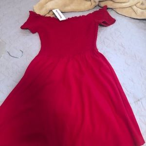 NWT! Hollister Red Casual Dress Small